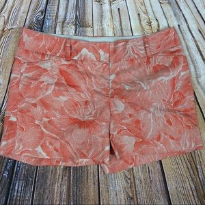 The Limited Drew Fit Orange Floral Shorts 12